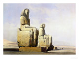 Thebes, December 4th 1838, Detail of the Colossi of Memnon Giclee Print by David Roberts