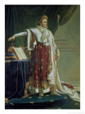 Portrait of Napoleon I in His Coronation Robes, 1804 Giclée-tryk af Anne-Louis Girodet de Roussy-Trioson