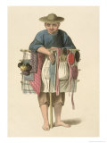 "A Pedlar Plate 17 from ""The Costume of China"" Giclee Print by Major George Henry Mason"