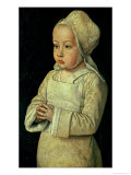 Portrait of Suzanne of Bourbon Daughter of Peter II and Anne of France, Duke and Duchess of Bourbon Giclee Print by  Master of Moulins