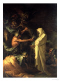 The Spirit of Samuel Appearing to Saul at the House of the Witch of Endor, 1668 Giclée-tryk af Salvator Rosa