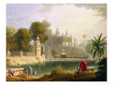 "View of Sassoor in the Deccan, from Volume II of ""Scenery, Costumes and Architecture of India"" Giclee Print by Captain Robert M. Grindlay"
