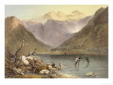 "Brothers Water, from ""The English Lake District,"" 1853 Giclee Print by James Baker Pyne"