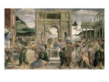 The Punishment of Korah, Dathan and Abiram, 1481 Giclee Print by Sandro Botticelli