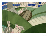 The Watershute at the Fair, circa 1920 Giclee-trykk av Charles Martin
