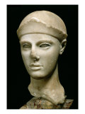 The Athena of Aegina, Wearing a Helmet, Head of a Statue, Greek, Aeginetan, circa 460 BC Premium Giclee Print
