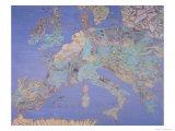 Karte von Sixteenth Jahrhundert Europa, from the Sala Del Mappamondo circa 1574-5 Giclée-Druck von Giovanni De' Vecchi