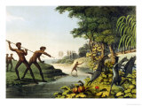 Hunting the Kangaroo, Aborigines in New South Wales Giclee Print by John Heaviside Clark