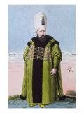 "Ibrahim Sultan 1640-48, from ""A Series of Portraits of the Emperors of Turkey,"" 1808 Giclee Print by John Young"