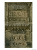 "The Tombs of Richard the Second and Edward the Third, Plate 34 from ""Westminster Abbey"" Giclee Print by Frederick Mackenzie"