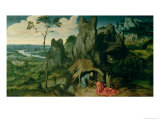 St. Jerome in the Desert Giclee Print by Joachim Patenir