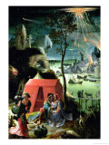 Lot and His Daughters Giclee Print by Lucas van Leyden