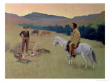 The Conversation, or Dubious Company Giclee Print by Frederic Sackrider Remington