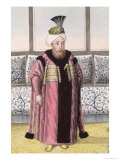 "Mustapha II Sultan 1695-1703, from ""A Series of Portraits of the Emperors of Turkey,"" 1808 Giclee Print by John Young"