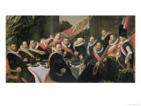 A Banquet of the Officers of the St. George Militia Company, 1616 Giclée-Druck von Frans Hals