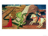 St. George and the Dragon, circa 1439-40 Giclée-Druck von Paolo Uccello