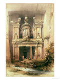 "Petra, March 7th 1839, Plate 92 from Volume III of ""The Holy Land"" Premium Giclee Print by David Roberts"