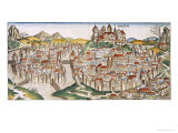 View of the City of Cracow, from the Nuremberg Chronicle by Hartmann Schedel 1493 Giclee Print