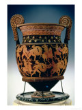 Red-Figure Volute Krater Depicting the Battle of the Greeks and the Amazons, Apulian Giclee Print by Sisyphus Painter 