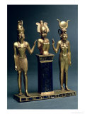 Triad of Osorkon II: Osiris Flanked by Isis and Horus, Third Intermediate Period, circa 874-850 BC Giclee Print by 22nd Dynasty Egyptian