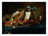 The Attributes of Music, 1770 Premium Giclee Print by Anne Vallayer-coster