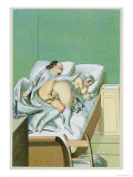 Lovers in Bed, Published 1835, Reprinted in 1908 Giclee Print by Peter Fendi