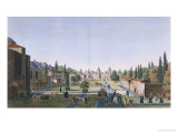 View of the Outer Courtyard of the Seraglio, Topkapi Palace, Constantinople Giclee Print by Anton Ignaz Melling