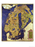 Map of Sixteenth Century Scandinavia, from the &quot;Sala Delle Carte Geografiche&quot; Giclee Print by Stefano And Danti Bonsignori