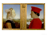 Portraits of Duke Federico Da Montefeltro and Battista Sforza, circa 1465 Giclee Print by  Piero della Francesca