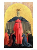 The Madonna of Mercy, Central Panel from the Misericordia Altarpiece, 1445 (Detail) Giclee Print by  Piero della Francesca