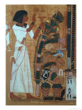 The Fumigation of Osiris, Page from the Book of the Dead of Neb-Qued, Egyptian, New Kingdom Giclee Print by 19th Dynasty Egyptian