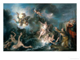 Perseus Rescuing Andromeda Giclee Print by Charles Antoine Coypel