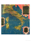 "Map of Sixteenth Century Italy, from the ""Sala Delle Carte Geografiche"" Giclee Print by Stefano And Danti Bonsignori"