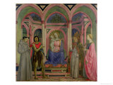 Madonna and Child with St. Lucy, St. Francis, St. Nicolas and St. John the Baptist Giclée-Druck von Domenico Veneziano