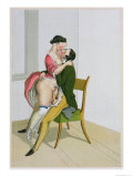 Two Lovers, Published 1835, Reprinted in 1908 Giclee Print by Peter Fendi
