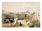 "Mosque of Omar Showing the Site of the Temple, Plate 8 from Volume I of ""The Holy Land"" Giclee Print by David Roberts"
