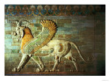 Sphinx, Detail from a Frieze, Mesopotamian, circa 500 BC Premium Giclee Print