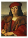 Portrait of a Man Holding an Apple, 1500 Reproduction proc&#233;d&#233; gicl&#233;e par Raphael 