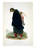 Chippeway Squaw and Child, Published by F.O.W. Greenough, 1838 Giclee Print by John T. Bowen