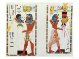 Two Murals from the Tombs of the Kings of Thebes, Discovered by G. Belzoni Giclee Print by Giovanni Battista Belzoni