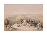 "Sabaste, Ancient Samaria, April 17th 1839, Plate 44 from Volume I of ""The Holy Land"" Giclee Print by David Roberts"