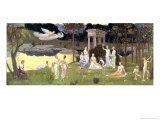 The Sacred Wood Cherished by the Arts and the Muses 1884-89 Giclee Print by Pierre Puvis de Chavannes