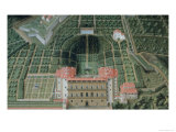 Fort Belvedere and the Pitti Palace from a Series of Lunettes Depicting Views of the Medici Villas Giclee Print by Giusto Utens