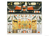 Mural from the Tombs of the Kings of Thebes, Discovered by G. Belzoni Giclee Print by J. Ricci