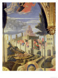 Santa Trinita Altarpiece, Detail of the City of Jerusalem and the Temple of Solomon, circa 1434 Giclee Print by  Fra Angelico