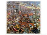 The Capture of Constantinople in 1204 Giclée-Druck von Jacopo Robusti Tintoretto