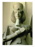 Colossal Statue of King Akhenaten Detail of Head and Upper Torso, New Kingdom Giclee Print