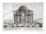 """The Statue of Olympian Zeus by Phidias, Plate 5 from """"Entwurf Einer Historischen Architektur"""" Giclee Print by Johann Bernhard Fischer Von Erlach"""