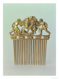 Comb Decorated with a Battle Scene from a Scythian Heroic Epic, Early 4th Century BC Giclee Print by Scythian