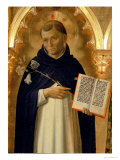 The Perugia Altarpiece, Side Panel Depicting St. Dominic, 1437 (Detail) Giclée-tryk af Fra Angelico
